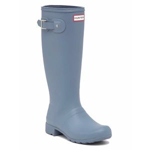 NEW IN BOX HUNTER Gull Grey Tall Packable Rainboot